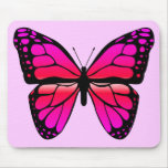 Pink Butterfly Mousepad