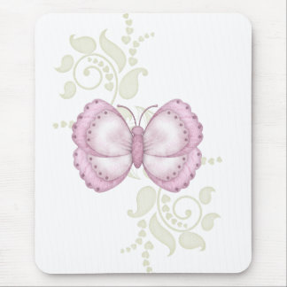 Pink Butterfly Mousepads