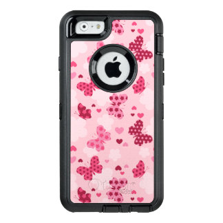 Pink butterfly pattern Otterbox iphone case