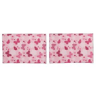 Pink butterfly pattern Pillowcase