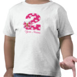 Pink Butterfly Personalised 2nd Birthday Shirt