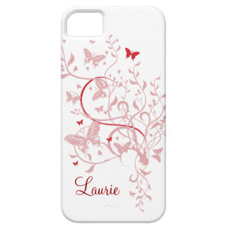 Pink Butterfly Personalised iPhone 5 Case