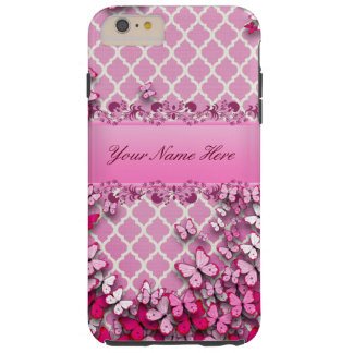 Pink Butterfly Phone Case Design