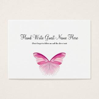 Pink Butterfly - Place Cards