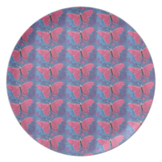 pink butterfly plate