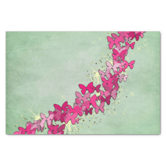 Pink Butterfly Princess Tissue Paper