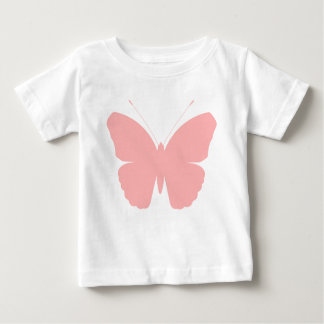 Pink Butterfly Silhouette Design Baby T-Shirt