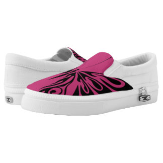 Pink Butterfly Slip On Shoes