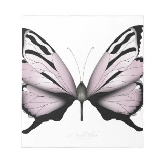Pink Butterfly Small Blush Notepad