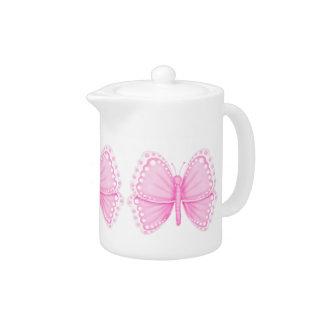 Pink Butterfly Teapot