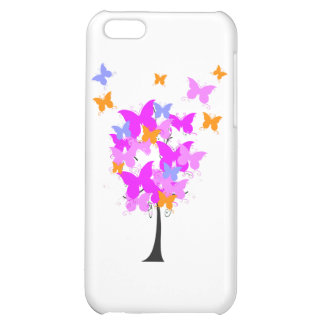 Pink Butterfly Tree iPhone 5C Covers