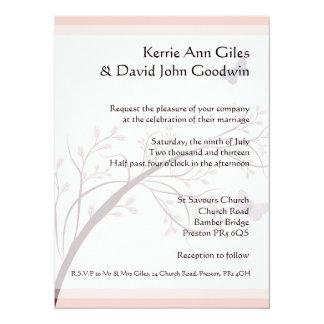 Pink Butterfly Wedding Stationery 14 Cm X 19 Cm Invitation Card