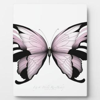 Pink Butterfly Wild Rose Bishop Plaque