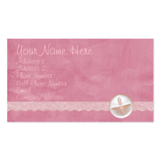 Pink Button & Lace Business Card