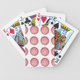 Pink Buttons on White Poker Cards