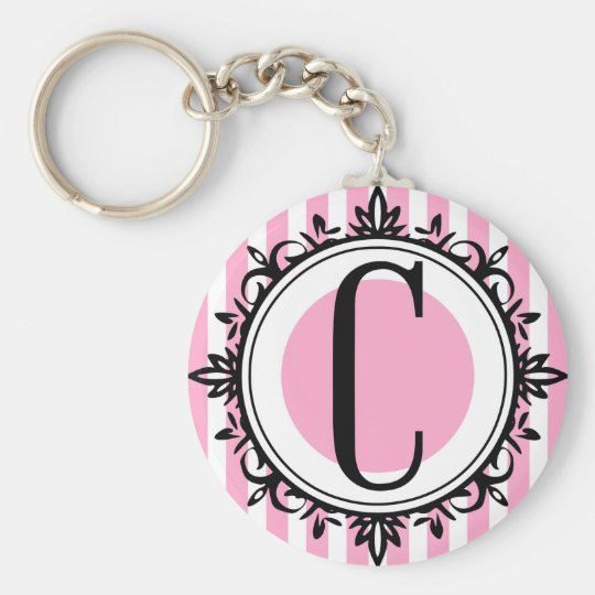 Pink 'C' monogram Key Ring