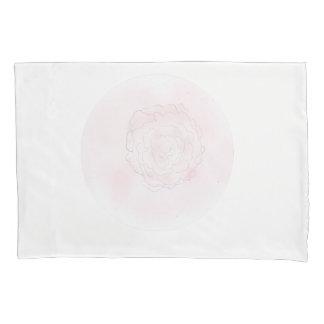 Pink Cabbage Rose Pillowcase