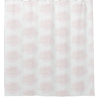 Pink Cabbage Rose Shower Curtain