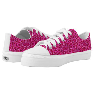 Pink cabbage rose triangles 5072 shoes printed shoes