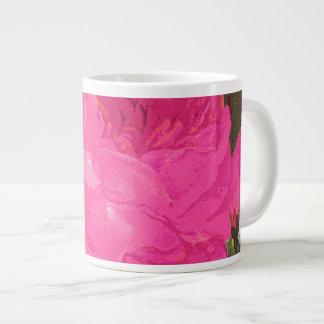 Pink Cabbage Roses Jumbo Mug