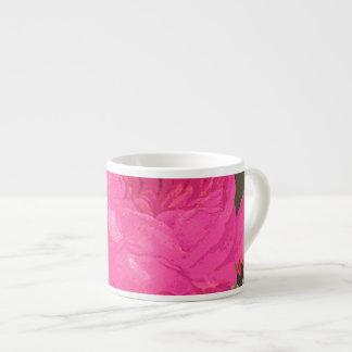 Pink Cabbage Roses Espresso Mug