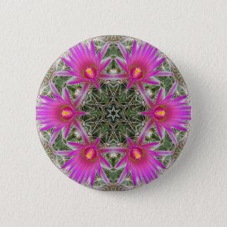 Pink Cactus Flower 6 Cm Round Badge