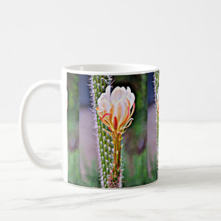 Pink Cactus Flower Coffee Cup
