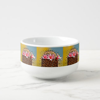 Pink Cactus Flower Soup Mug
