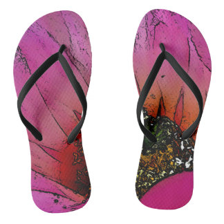 Pink Cactus Flower Thong Shoes