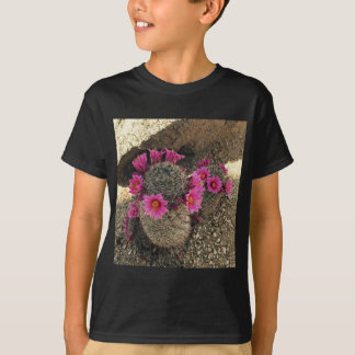 Pink Cactus in Bloom Tee Shirts