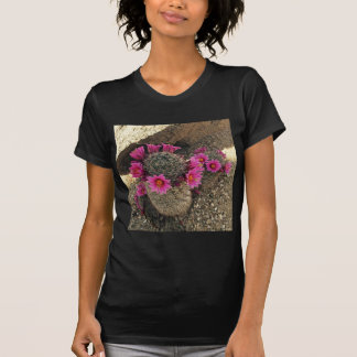 Pink Cactus in Bloom T-shirts
