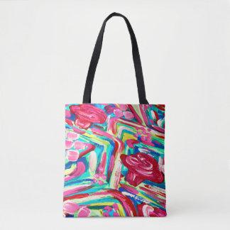 Pink cactus tote bag/ pretty tote bag/ pink bag