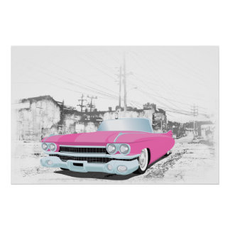 Pink Caddy Poster