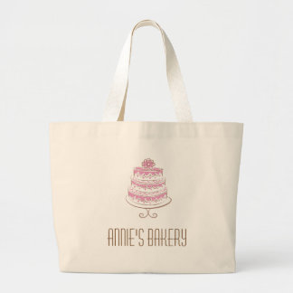 Pink Cake Art Custom Gifts Logo Bag Tote