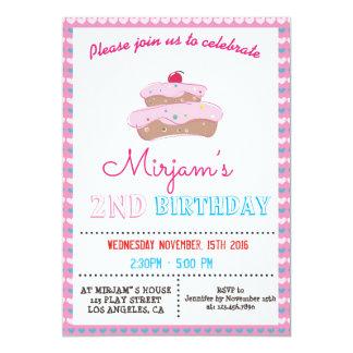PINK CAKE BIRTHDAY PARTY INVITATION