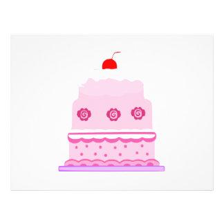 Pink cake cartoon 21.5 cm x 28 cm flyer