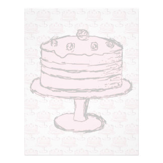 Pink Cake on Pink Cake Pattern. 21.5 Cm X 28 Cm Flyer