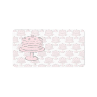 Pink Cake on Pink Cake Pattern. Address Label