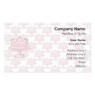 Pink Cake on Pink Cake Pattern. Pack Of Standard Business Cards