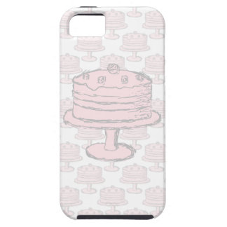 Pink Cake on Pink Cake Pattern. iPhone 5 Cases