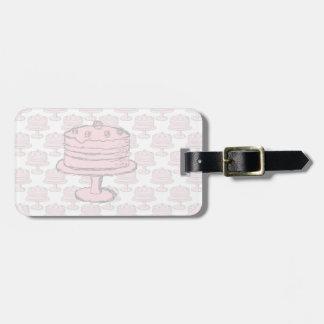 Pink Cake on Pink Cake Pattern. Luggage Tag