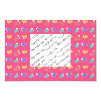 Pink cake pattern photograph