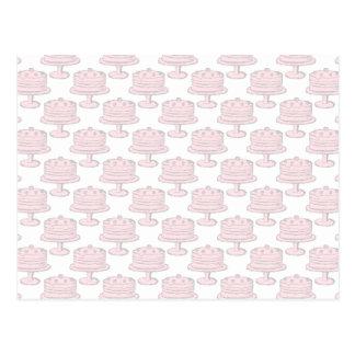 Pink Cake Pattern. Postcard