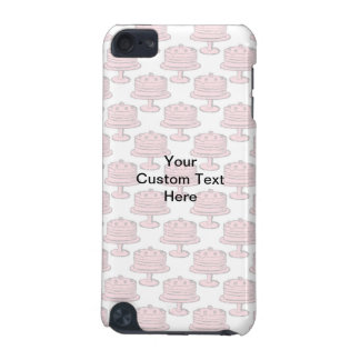 Pink Cake Pattern with Custom Text iPod Touch (5th Generation) Covers