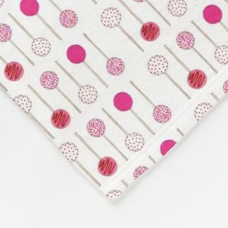 Pink Cake Pops Foodie Dessert Valentine Blanket