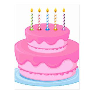 pink cake postcard