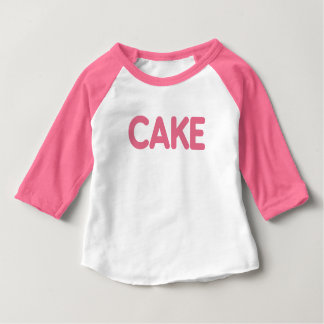 {Pink} Cake Tee for Baby