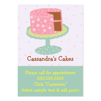 Pink Cake with Polka Dots Pack Of Chubby Business Cards