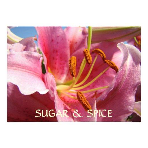 PINK CALLA LILY FLOWERS Invitations Sugar & Spice!