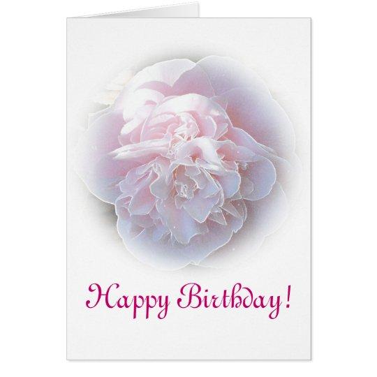 Pink Camelia Birthday Card